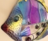 Purple Tropical Reef Fish - Metal with Glass Detailing
