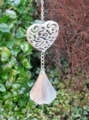Antique Finish Heart & Bell Windchime
