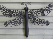 Dragonfly with Flower Design Wings