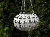 Hanging Tealight Lantern - Daisy Design