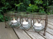 Wire Hearts Votive Candle Holder