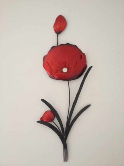 Contemporary Black Stem Poppy Wall Art Decor