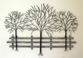Metal Wall Art Uk Tree Large Bridge Tree Metal Wall Art Sculpture