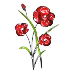 Contemporary Poppy Wall Art Bunch