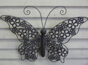 Butterfly with Flower Design Wings