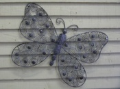 Butterfly-Delicate Grey Metal with Scroll Design Wings