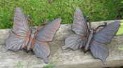 Pair of Cast Iron Butterflies