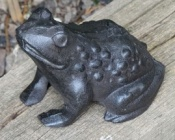 Cast Iron Frog Figurine