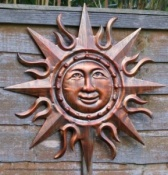 Burnished Copper Sun Wall Art