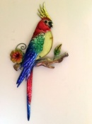 Tropical Parrot Wall Decor