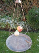 Hanging Bird Dish with Apple Spike