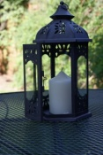 Cutout Metal Hexagonal Lantern