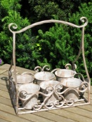 Metal Herb Planter - Antique Grey Finish