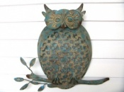 Owl on a Branch Wall Decor