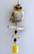 Owl and Bell Windchime