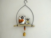 Owls on a Perch Windchime