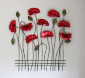 Swaying Poppies Contemporary Wall Art