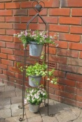 Three Tiered Metal Plant Stand