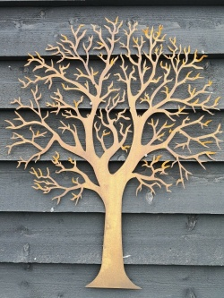 Beautiful Butterfly Tree Metal Wall Art Decor